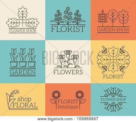 Gardening and floristry logos
