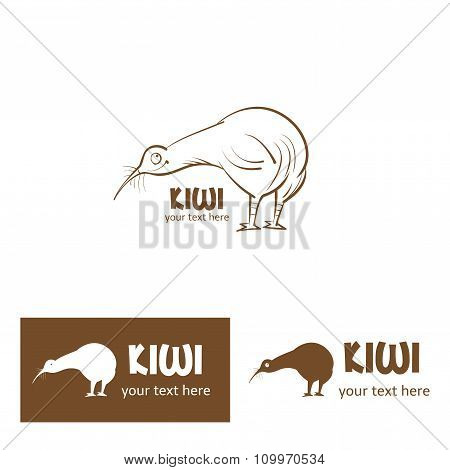 Cute Cartoon Kiwi Bird.