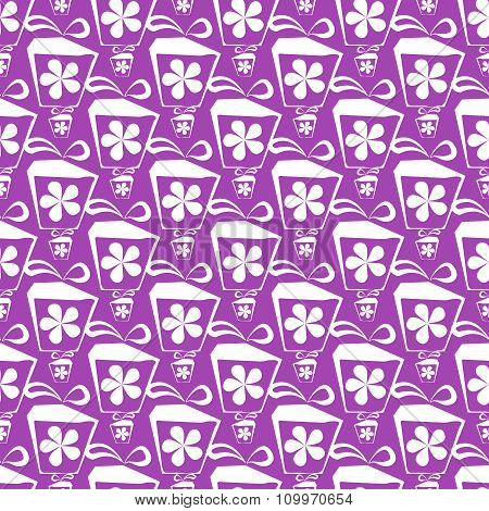 Seamless patterns with gift boxes