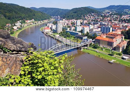 Elbe River, Decin Town, Czech Republic