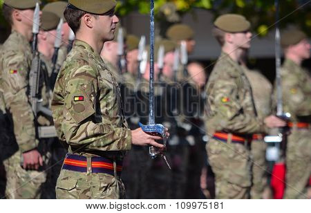 Officers and Troops of the Royal Anglian Regiment