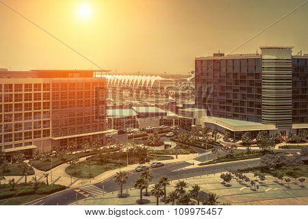 Beautifull view on Abu Dhabi.