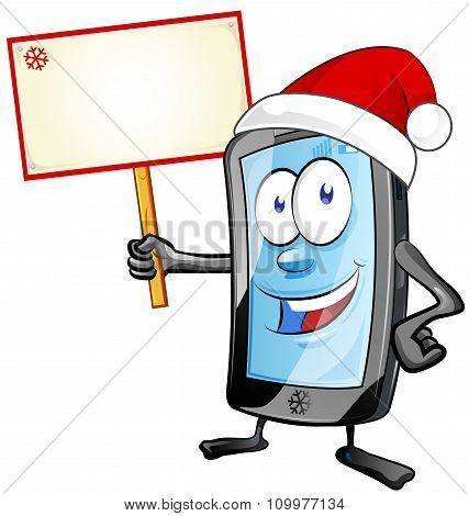 Fun Christmas  Mobile Cartoon With  Signboard