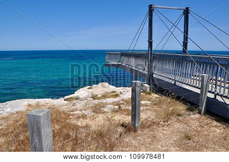 Viewing Bridge on Indian Ocean Coast Line: Cape Peron, Western Australia