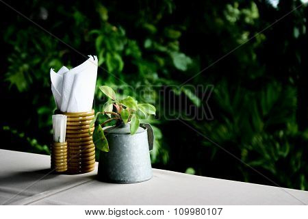 Decorations On A Dining Table