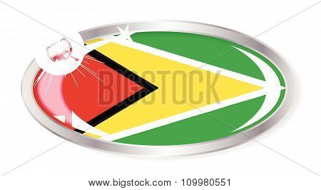 Guyana Flag Oval Button