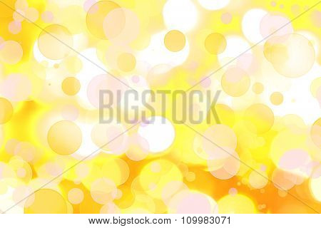 Assorted circles yellow abstract background