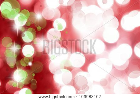 Abstract starry green and red background