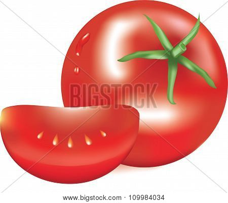 tomato of red color