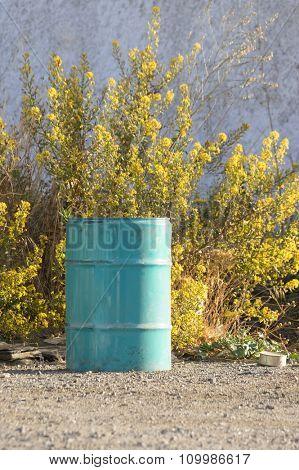 Nature pollution - empty petrochemical barrel