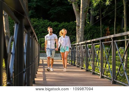 Date in beautiful nature reserve.