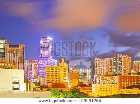 Miami Florida sunset