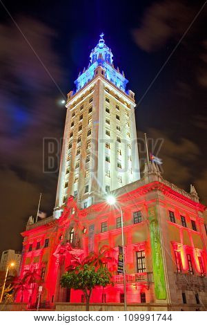 Miami Freedoom tower is famous city landmark