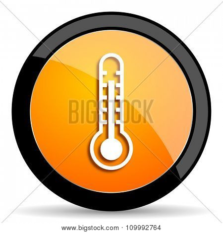 thermometer orange icon