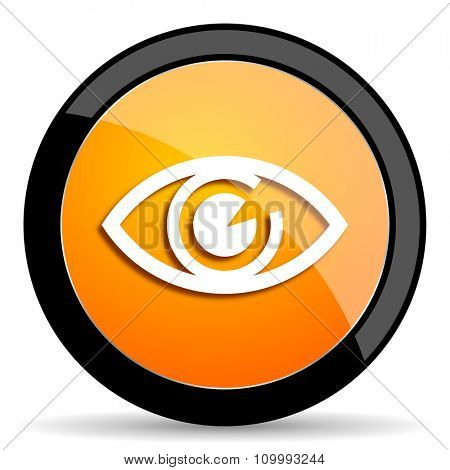 eye orange icon