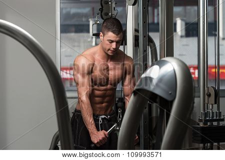 Triceps Exercising With Cable