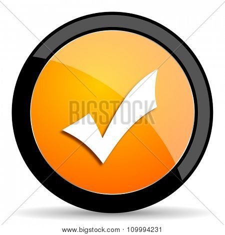 accept orange icon