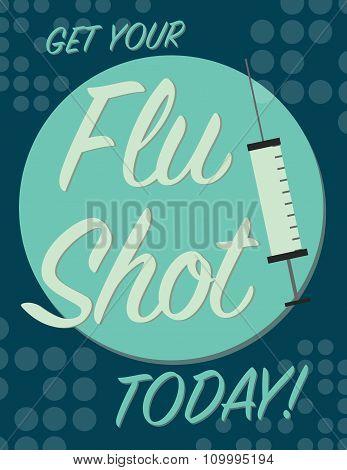 Flue Shot Poster
