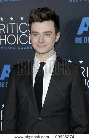 LOS ANGELES - MAY 31:  Chris Colfer at the 5th Annual Critics' Choice Television Awards at the Beverly Hilton Hotel on May 31, 2014 in Beverly Hills, CA