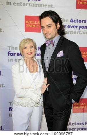 LOS ANGELES - JUN 8:  Florence Henderson, Constantine Maroulis at the 2014 Tony Award Viewing Party at the Taglyan Cultural Complex  on June 8, 2014 in Los Angeles, CA