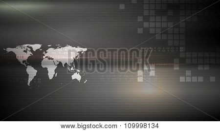 Abstract hi-tech dark background. Vector design