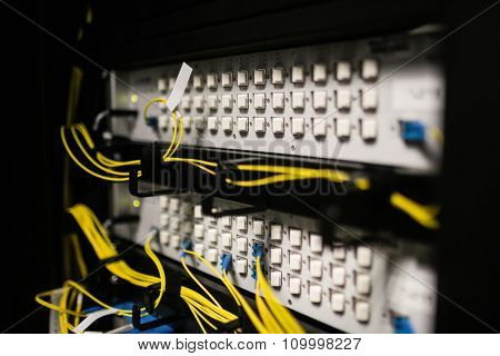 Servers in locker at the data centre