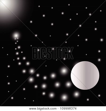 Abstract Bright Falling Star