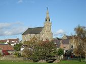 picture of ceres  - A view of the village of Ceres in Fife and the church at its centre - JPG