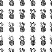 Постер, плакат: Vector simless pattern of pineapples