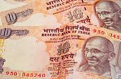 picture of gandhi  - Indian rupee notes with portraits of Gandhi - JPG