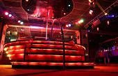 foto of debonair  - red night club podium floor interior losevsky - JPG