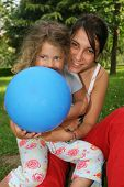 foto of niece  - aunt and niece in the garden - JPG