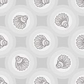 Постер, плакат: Seamless badminton ball pattern shuttlecock seamless background