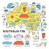 Постер, плакат: Australia map