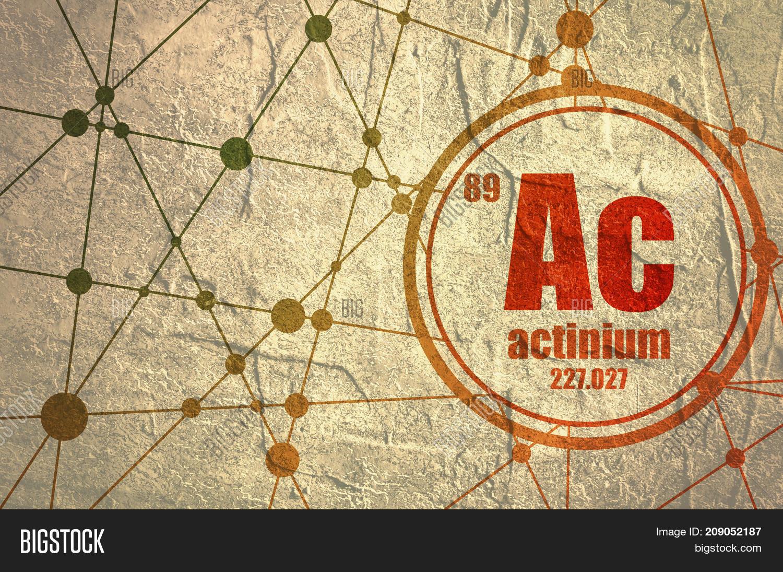 Actinium Chemical Element Sign Image Photo Bigstock