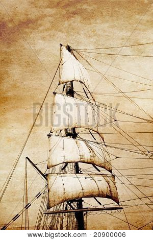 Sails On Old Paper