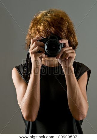 teen boy taking picture of you
