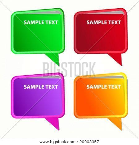 Speech bubble. Labels set