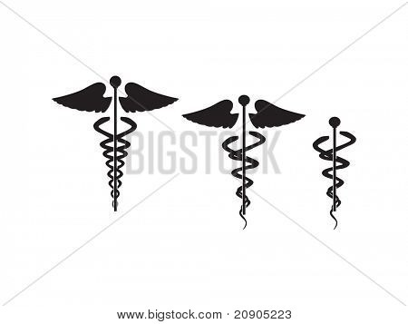 caduceus doctor symbol vector illustration