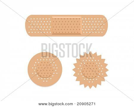 adhesive bandages vector illustration