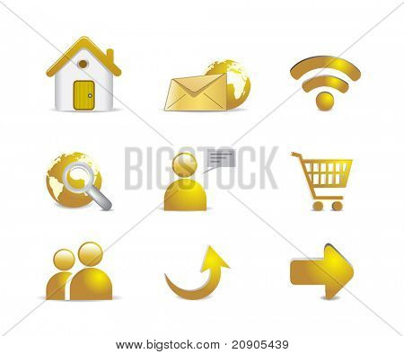 Los iconos de Internet vector illustration