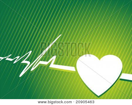 heart pulse abstract vector illustration
