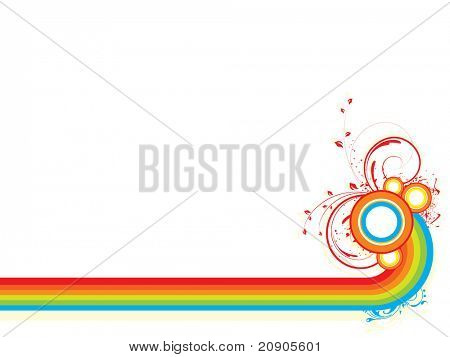 vector illustration of decorative abstract background
