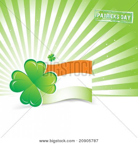 St. Patrick's Day abstraction
