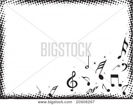abstract vector illustration abstract musical notes