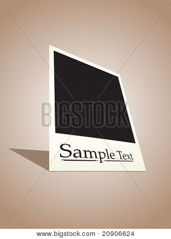 vector  instant photo film sample text