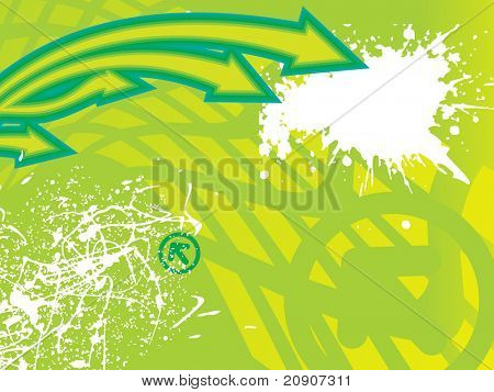 arrows and grunge green illustration