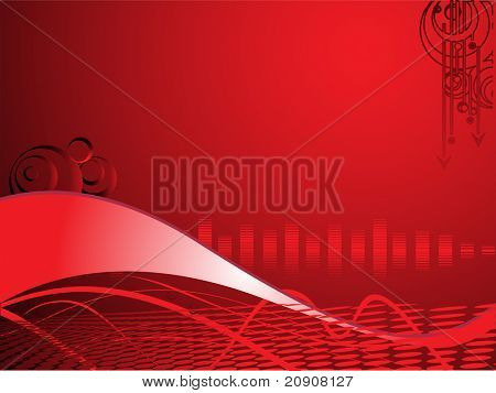 red business background with swirl elements, wallpaper