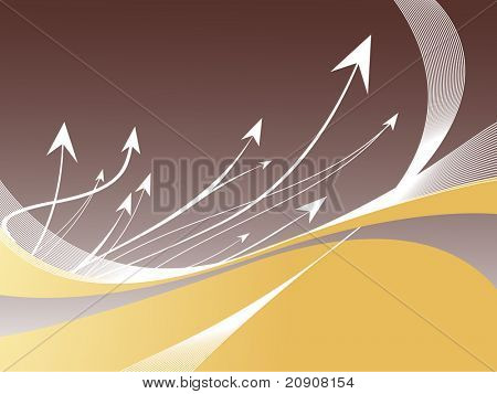 many white darts speeding toward its target, vector wallpaper