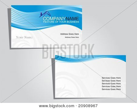 business cards, beautiful vector illustration
